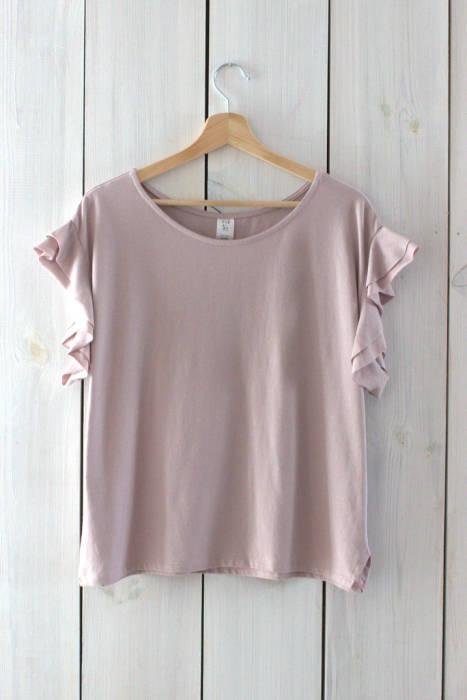 19-152 T-shirt with flounces / ROSE