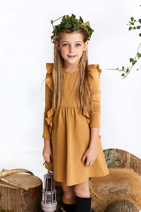 19-108 DRAGONFLY DRESS / camel