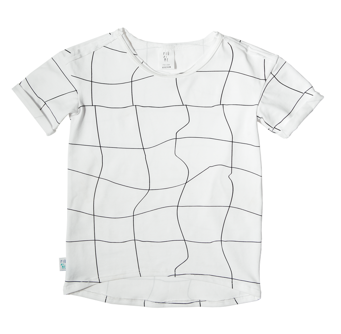 19-027 T-SHIRT WHITE / GRATINGS