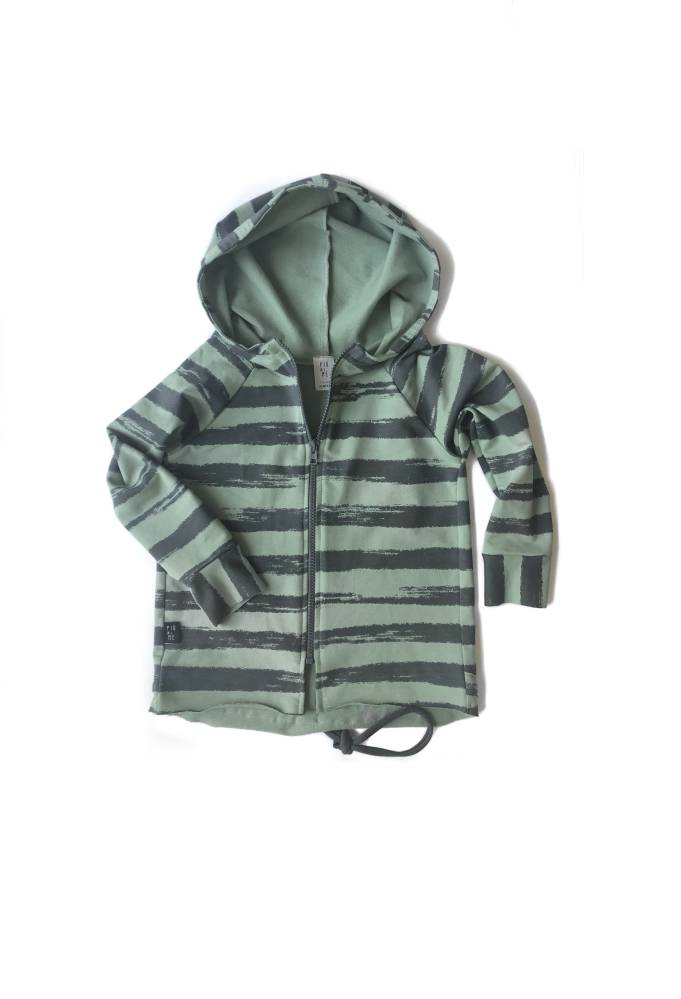 49-20 HOODIE ZIP / GREEN STRIPES