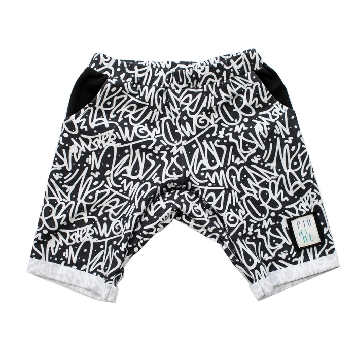 1963 /  SHORTS / GRAFFITI BLACK