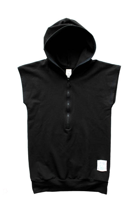 1964 /  SKATE TUNIC wh ZIP / BLACK