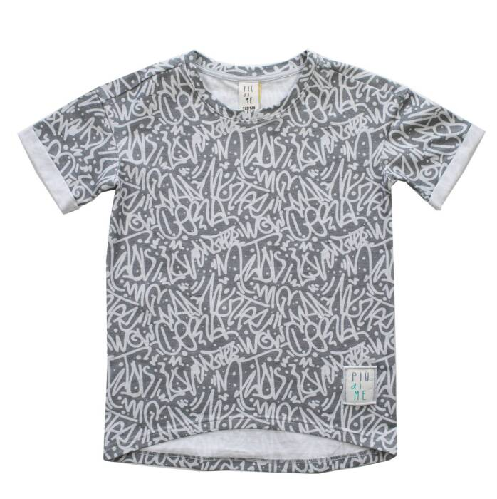 1958 / T-SHIRT GRAY GRAFFITI