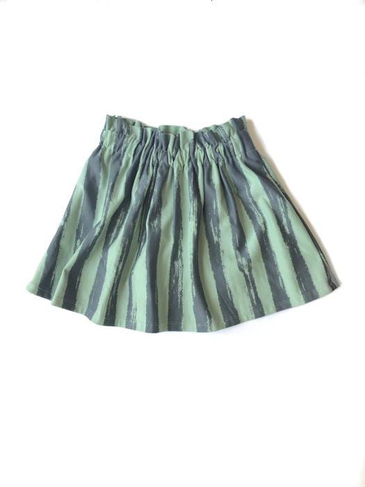 14-20 SKIRT / GREEN STRIPES