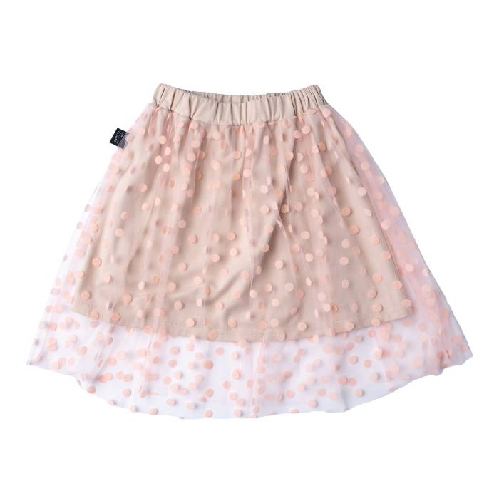 83-20 SKIRT / soft pink & dots
