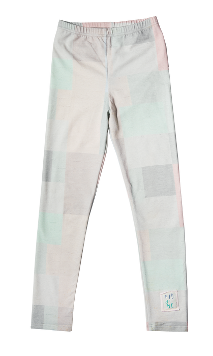 19-011 LEGGINGS / PASTEL TETRIS