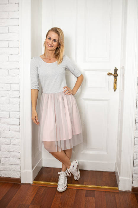 19-058 TULLE DRESS / WOMAN