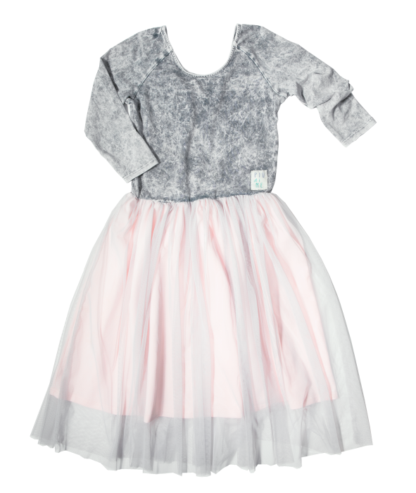 19-018 TULLE DRESS / GRAY