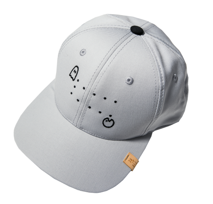 19-046 SNAP CAP GRAY / PAC-MAN