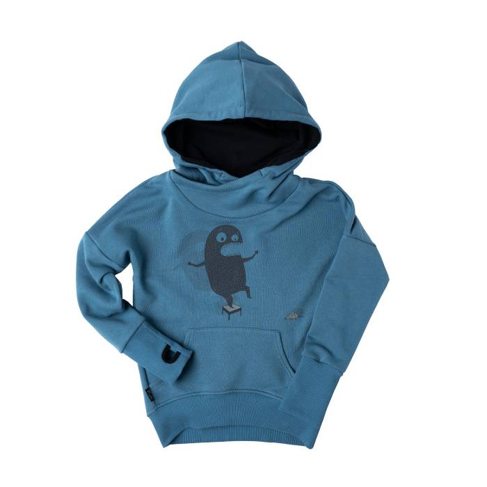 "112-20 HOODIE ""DON'T BE AFRAID "" / blue stone"