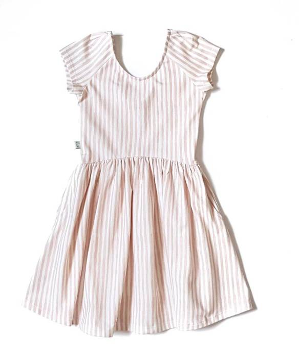 19-017 SUMMER DRESS / ROSE STRIPES