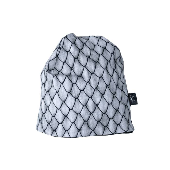 126-20 BEANIE / GRAY dragon scales