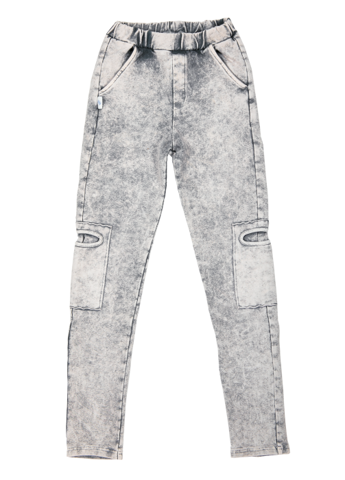 19-013 TROUSERS slim fit / GRAY