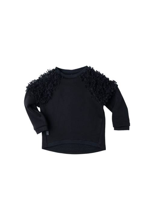 96-20 SWEATSHIRT / black fringe
