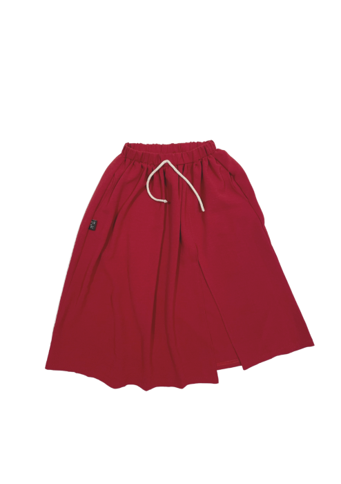 11-21 SKIRT MAXI / RED COLOR CREPE