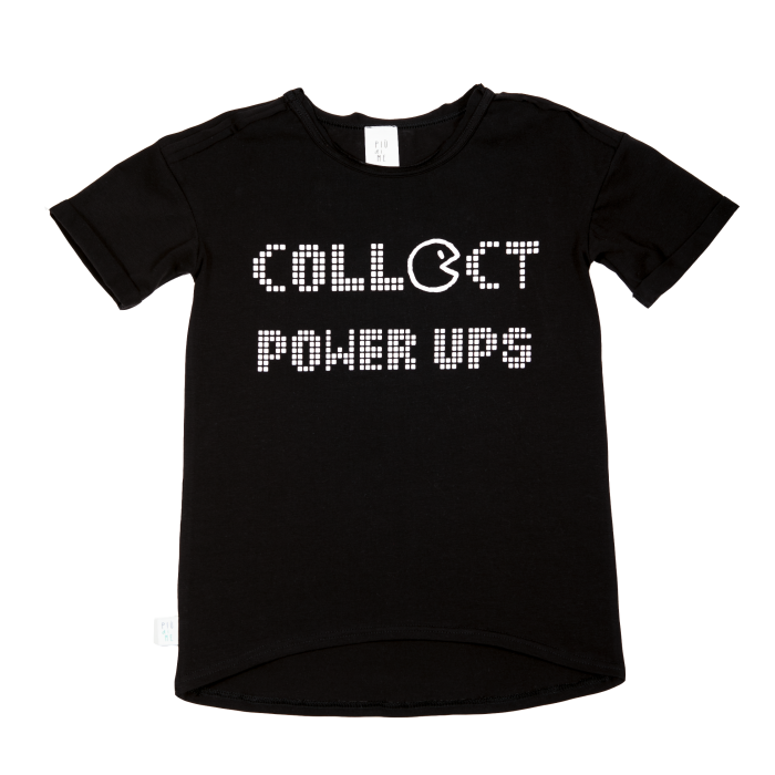 19-026 T-SHIRT BLACK / power ups