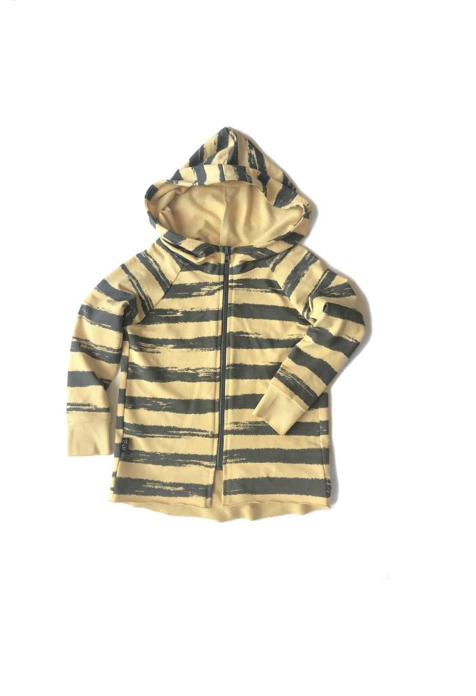 48-20 HOODIE ZIP / YELLOW STRIPES