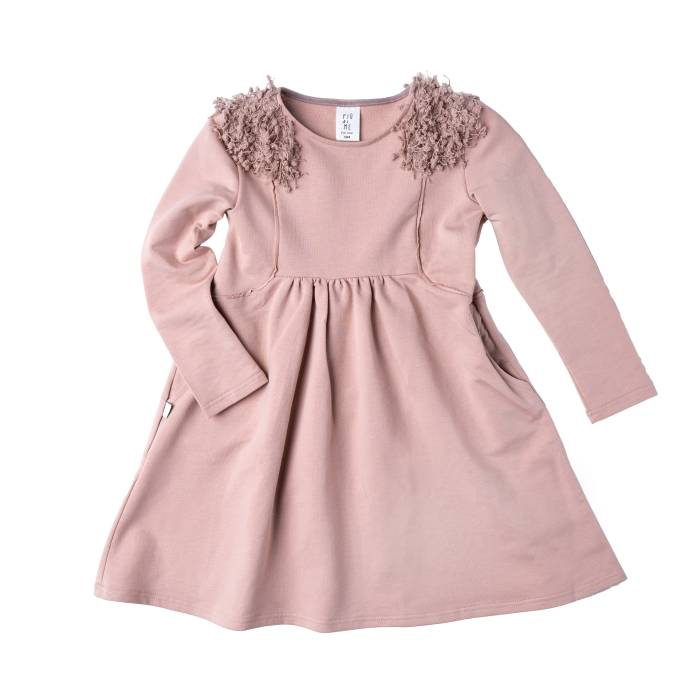 80-20 SOFT PINK DRESS / fringe