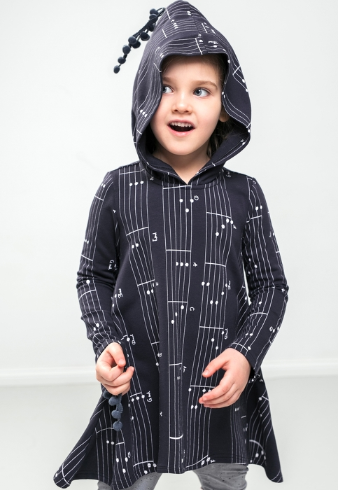 18-118 / FREEDOM DRESS wh hood / chords dark blue