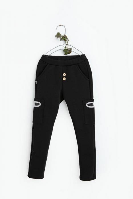 19-119 TROUSERS slim fit winter/ black