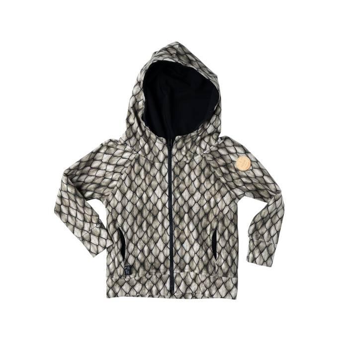 108-20 HOODIE ZIP / all khaki dragon scales