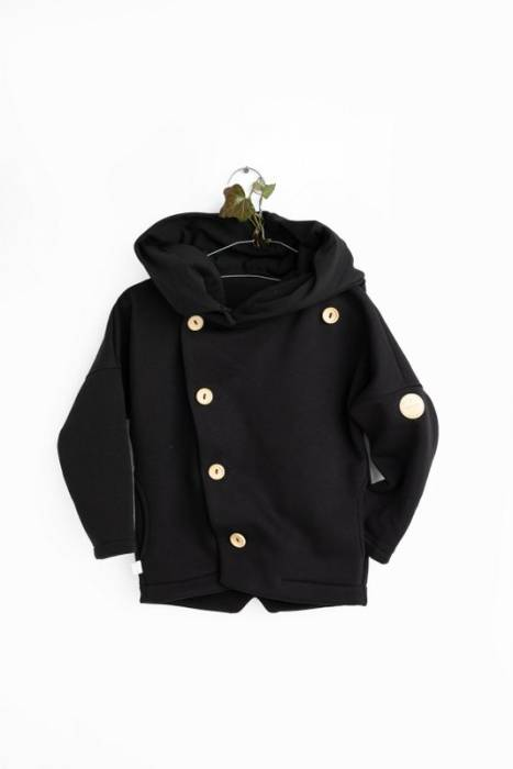 19-104 HOODIE SECRET MONK / black